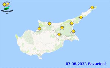 Nordzypern Zypern Wetter übermorgen