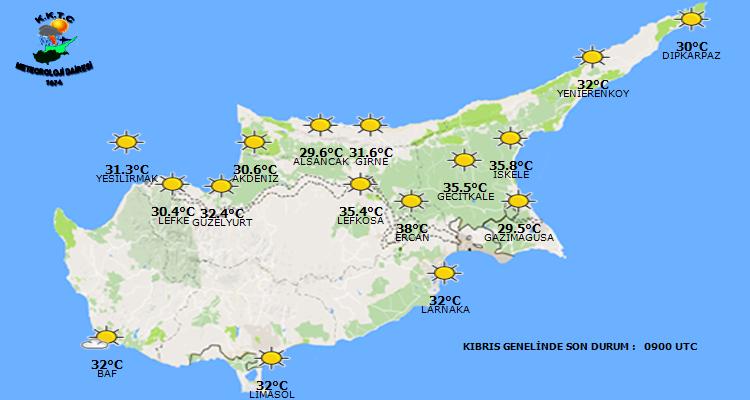 Das Wetter in Zypern aktuell - heute